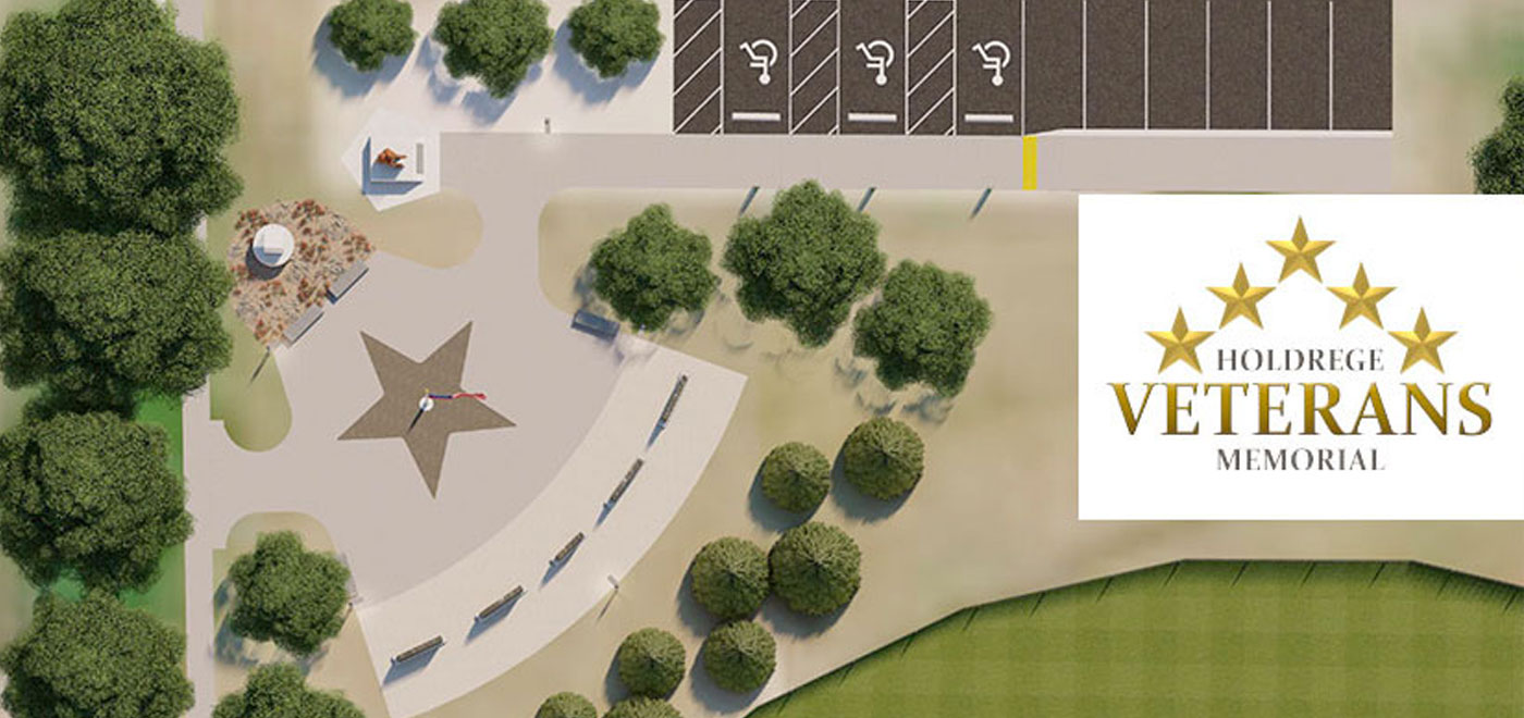 veterans memorial mock-up aerial